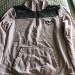 VS PINK sweatshirt quarter zip